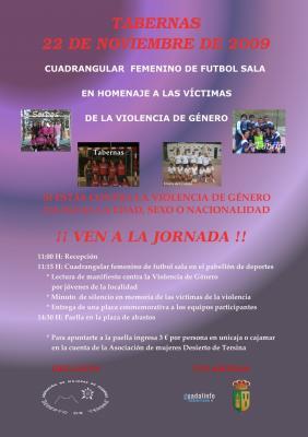 Homenaje a las victimas de la violencia de genero.