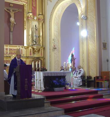 El Obispo de Almeria en Lubrin