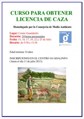 Curso para obtener Licencia de caza
