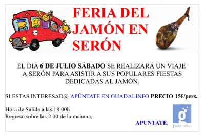 Nos vamos a la Feria del Jamón a Serón ..